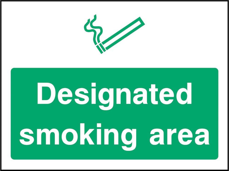 Designated Smoking Area Sign | Elevate Signs