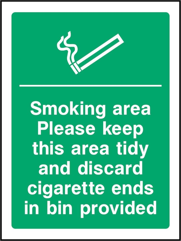 Smoking Area: Please Keep Tidy Sign | Elevate Signs