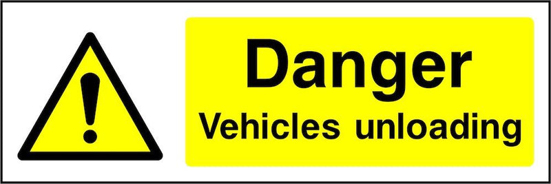 Danger Sign: Vehicles Unloading