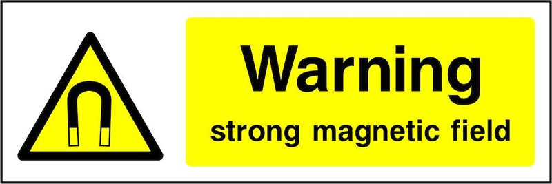 Warning Sign: Strong Magnetic Field