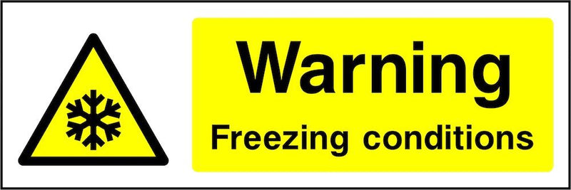 Warning Sign: Freezing Conditions