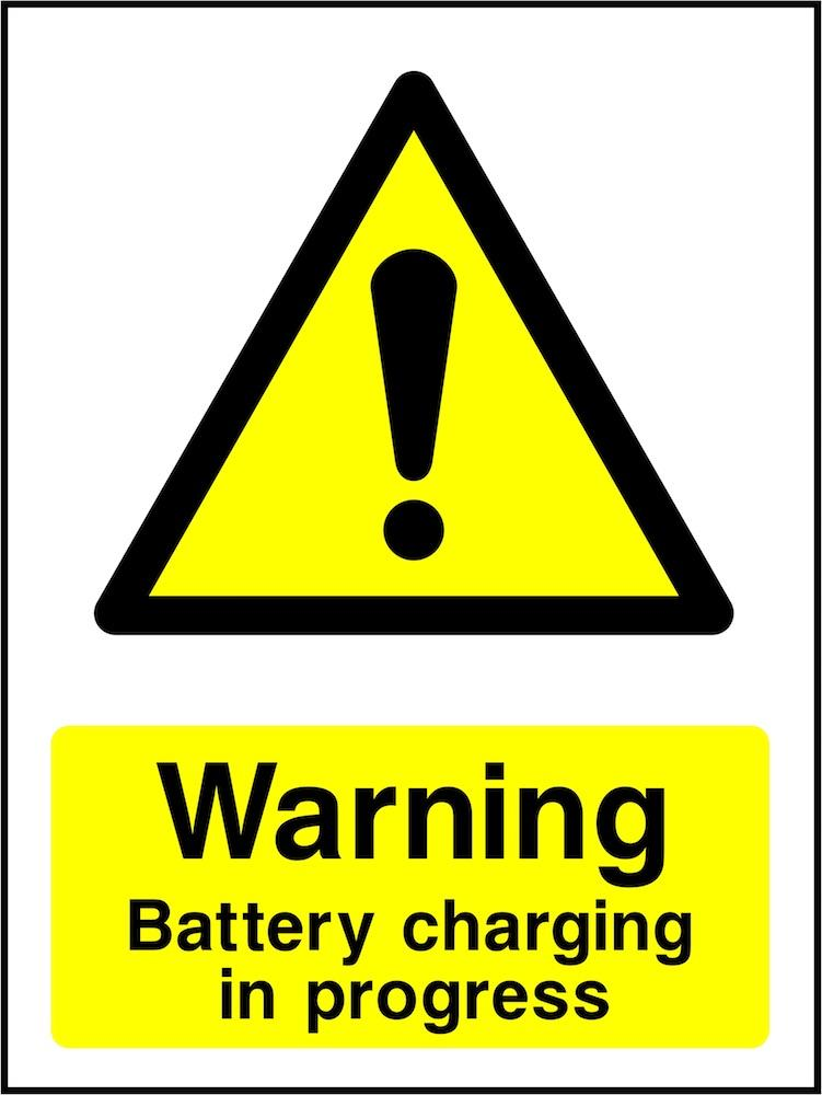 Warning Sign: Battery Charging In Progress