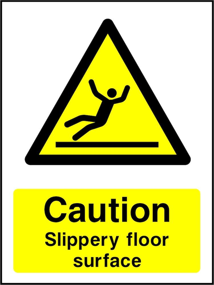Caution Sign: Slippery Floor Surface