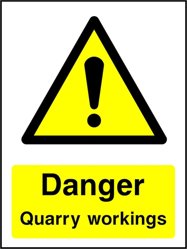 Danger Sign: Quarry Workings