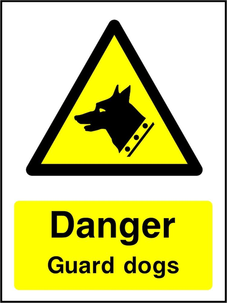 Danger Sign: Guard Dogs