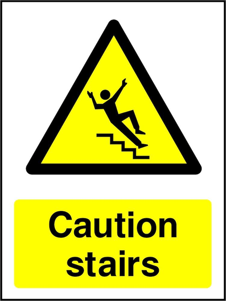 Caution Sign: Stairs