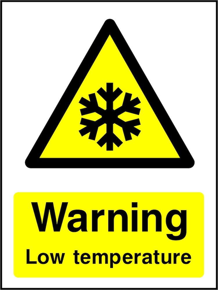 Warning Sign: Low Temperature