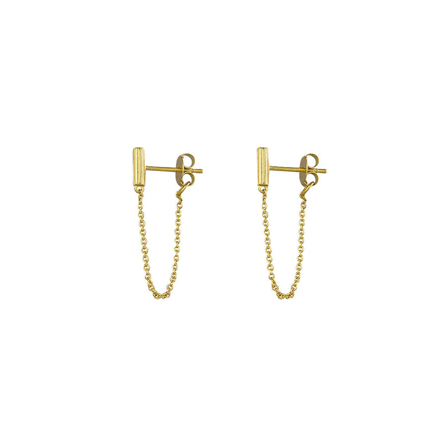 Virginia Chain Earrings Sterling Silver - Gold