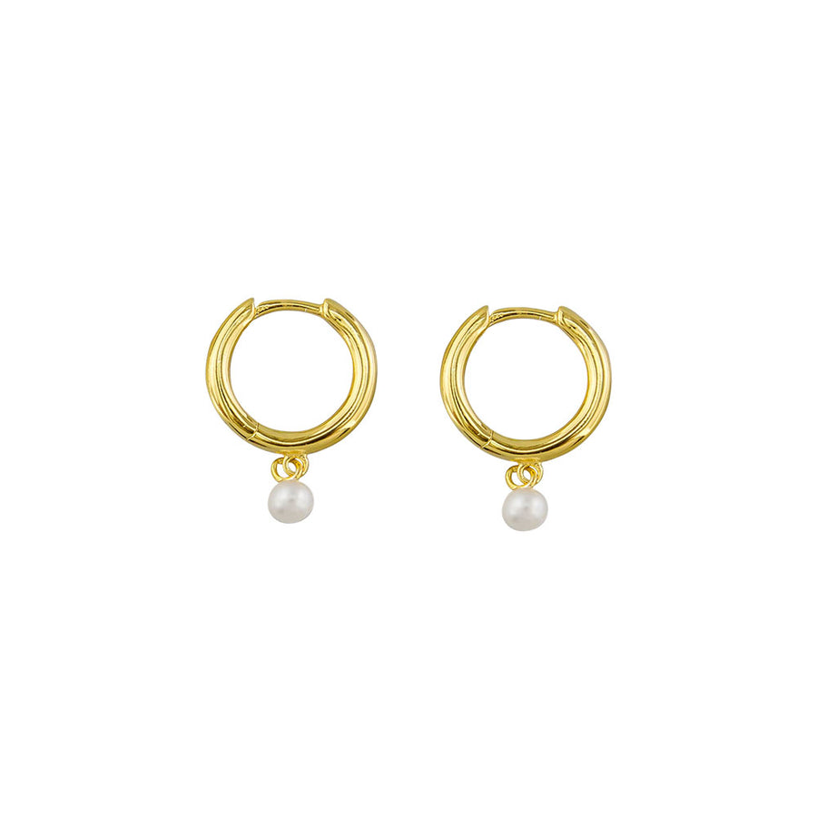 Chantal Pearl Sleeper Sterling Silver - Gold