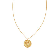 Alexandria Coin Necklace Sterling Silver - Gold - Jolie & Deen