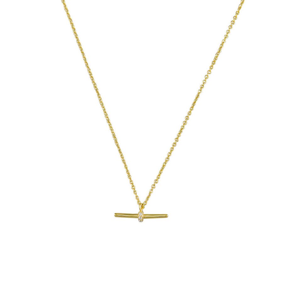 Gwen Necklace Sterling Silver - Gold - Jolie & Deen