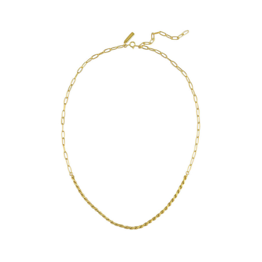 Addison Necklace Sterling Silver - Gold - Jolie & Deen
