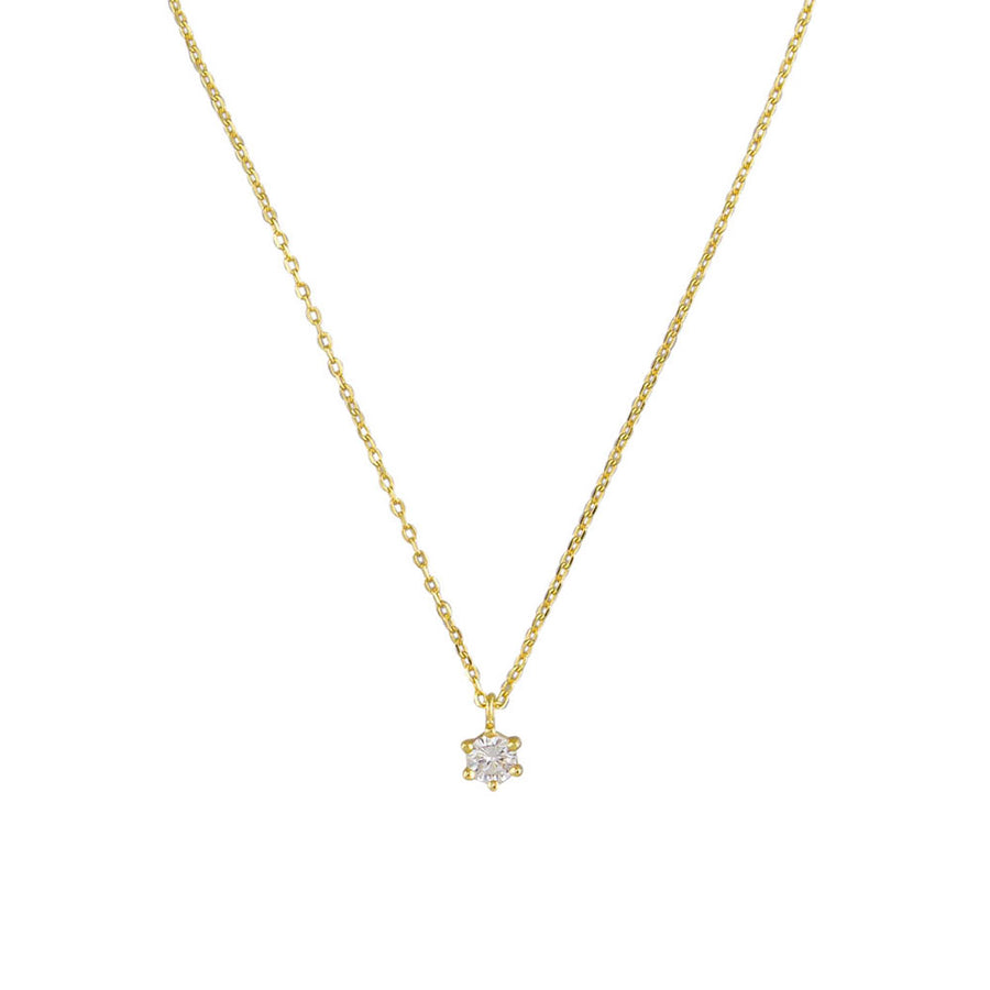 Crystal Ariel Necklace Sterling Silver - Gold