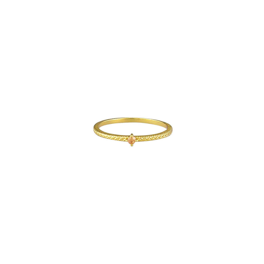Peach Riley Ring Sterling Silver - Gold - Jolie & Deen