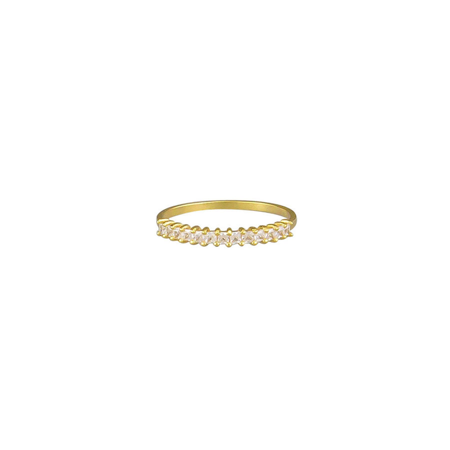 Crystal Zoey Ring Sterling Silver - Gold - Jolie & Deen