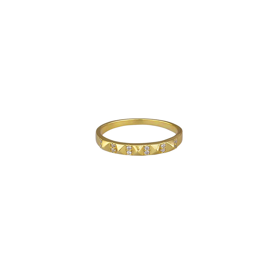 Crystal Mya Ring Sterling Silver - Gold