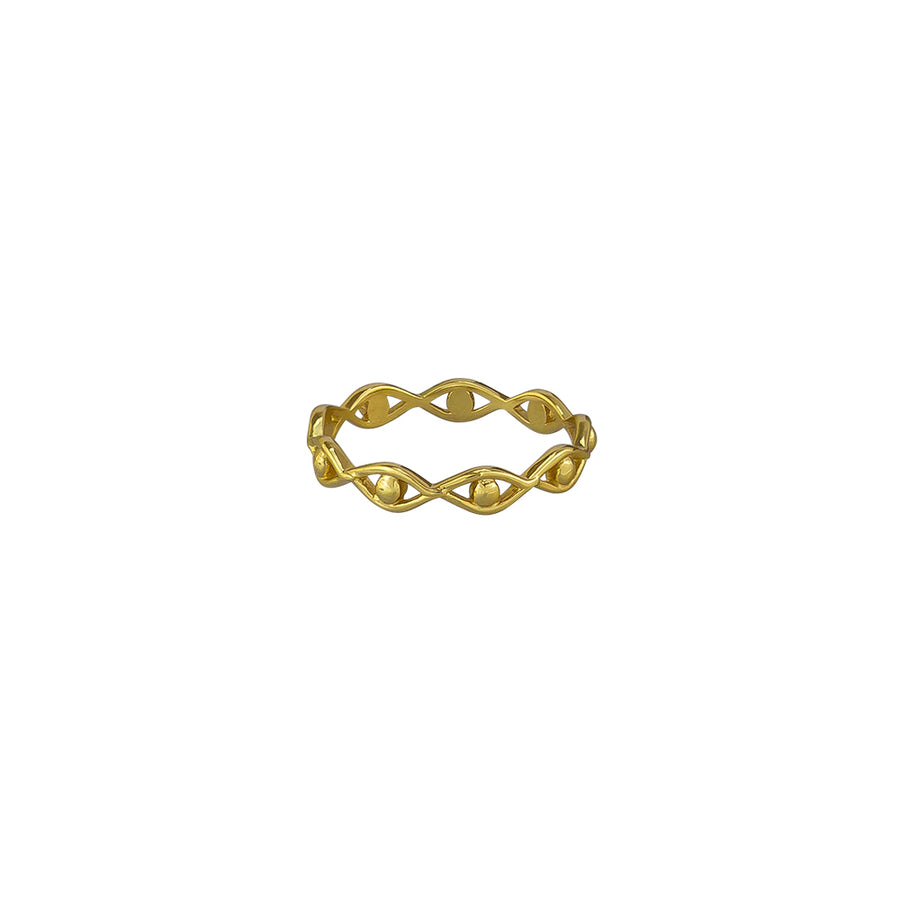 Francesca Ring Sterling Silver - Gold