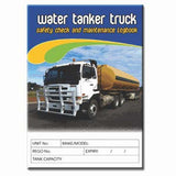 Water Tanker Truck Safety Check and Maintenance Logbook