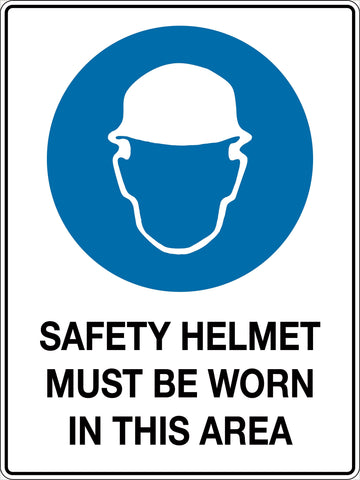 Mandatory Sign 'Safety Helmets Must be Worn In This Area'