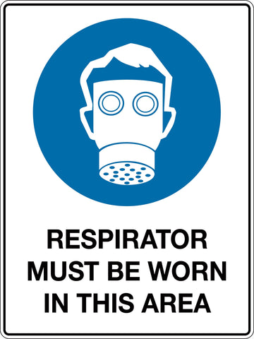 Mandatory Sign 'Respirator Must be Worn In This Area'