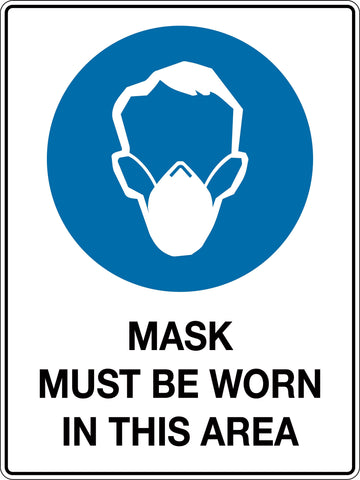 Mandatory Sign 'Mask Must be Worn In This Area'