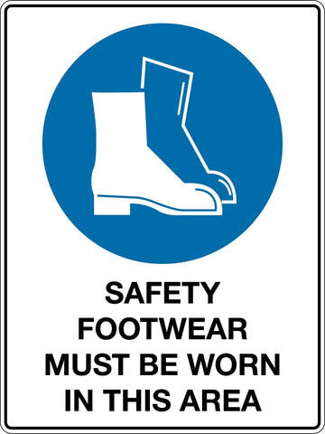 Mandatory Sign 'Safety Footwear Must be Worn In This Area'