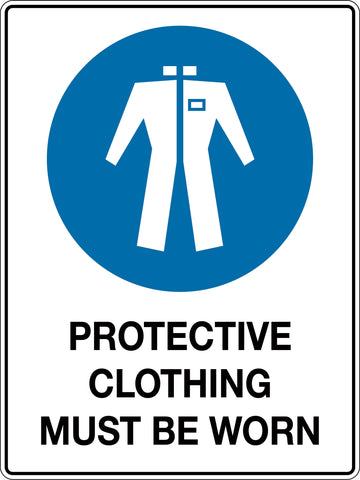Mandatory Sign 'Protective Clothing Must be Worn In This Area'