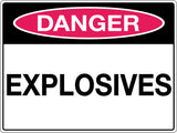 Danger Sign 'Explosives'