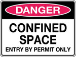 Danger Sign 'Confined Space Entry By Permit Only'