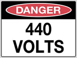 Danger Sign '440 Volts'
