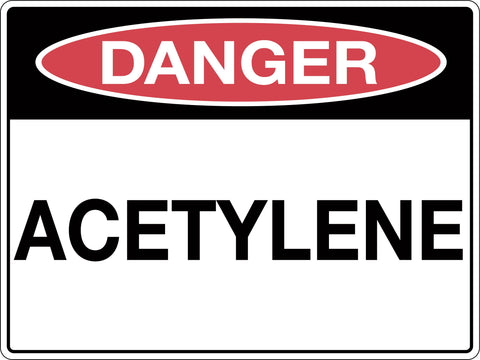 Danger Sign 'Acetylene'