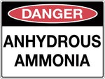 Danger Sign 'Anhydrous Ammonia'