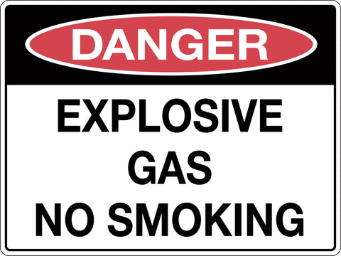 Danger Sign 'Explosive Gas No Smoking'