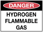 Danger Sign 'Hydrogen Flammable Gas'