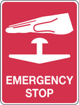 Fire Signs 'Emergency Stop With Picto'