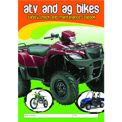ATV & AG Bike Safety Check and Maintenance Logbook