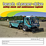 Beach Cleaner Drive Safety Check and Maintenance Logbook