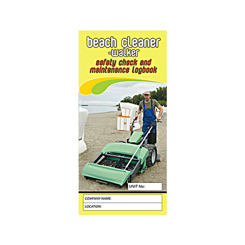 Beach Cleaner Walker Safety Check and Maintenance Logbook