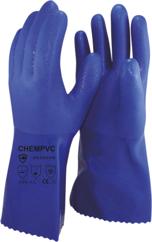 Chem PVC Gloves, pair