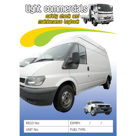 Courier Vehicles Safety Check and Maintenance Logbook