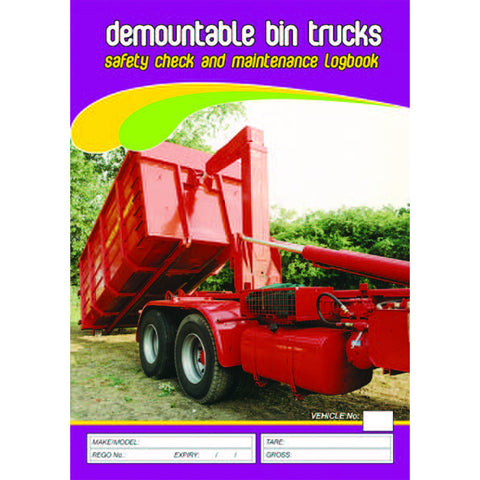 Demountable Bin Trucks Pre Start Checklist and Maintenance Logbook