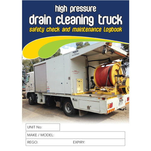 Drain Cleaner Safety Pre Start Checklist Logbook