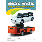 Electric Vehicles Safety Pre Start Checklist Logbook
