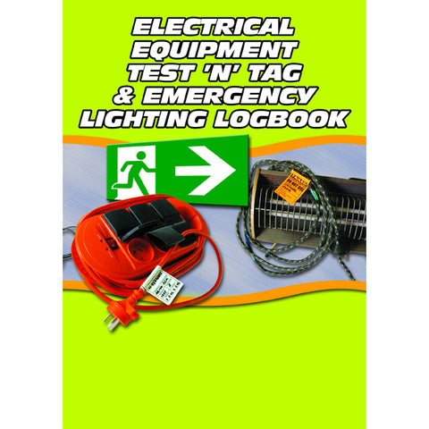 Electrical Equipment Test And Tag And Emergency Lighting Logbook