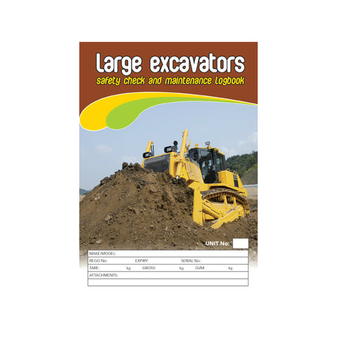 Excavator Carbonless Safety Check and Maintenance Logbook