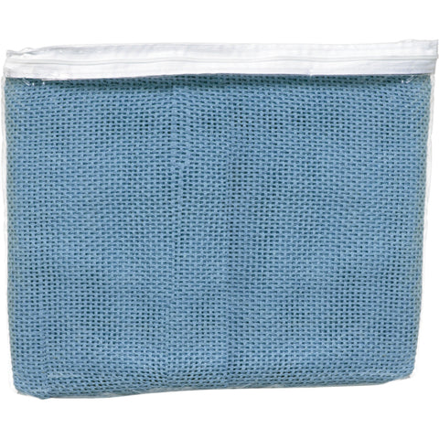 Blanket Cellular 100% Cotton Single Bed Blue