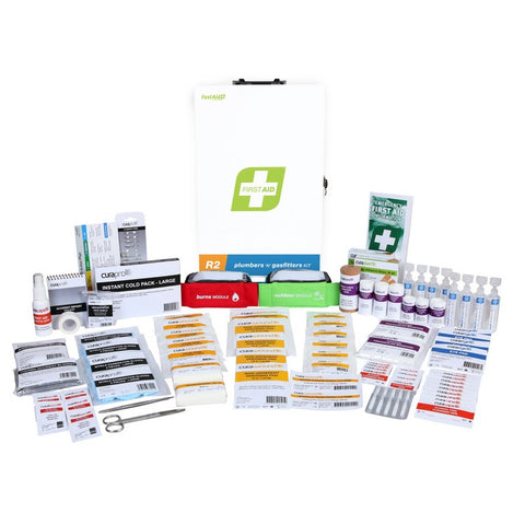 First Aid Kit - R2 Plumbers & Gasfitters Kit (Metal Wall Mount)