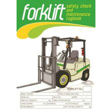 Forklift Safety Pre Start Checklist and Maintenance Logbook cover