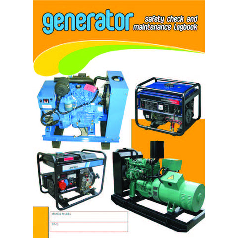 Generator Safety Check and Maintenance Logbook