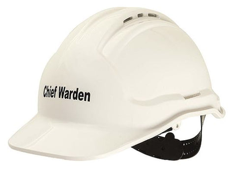 Chief Fire Warden Hat - Hard Hat